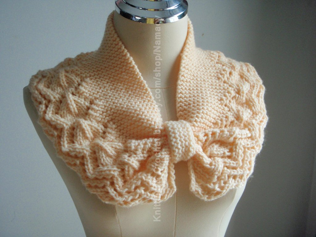 hand knitted mini neck warmer cozy cowl in shade of soft yellow it s ...