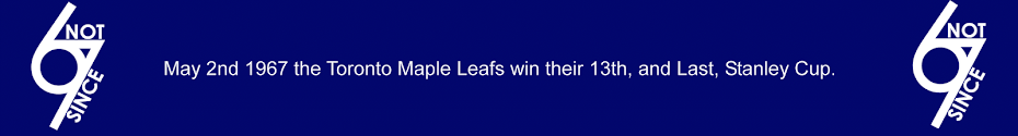 Toronto Maple Leafs Not Since 67