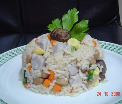 Taro fried rice