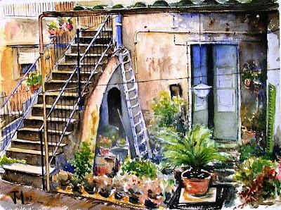 Joshemari larra aga acuarelas rincon vieja casa arenys de - Casa arenys de munt ...