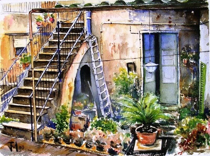 Joshemari larra aga acuarelas rincon vieja casa arenys de munt - Casas en arenys de munt ...