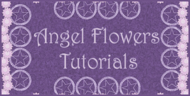 Angel Flowers tutorials