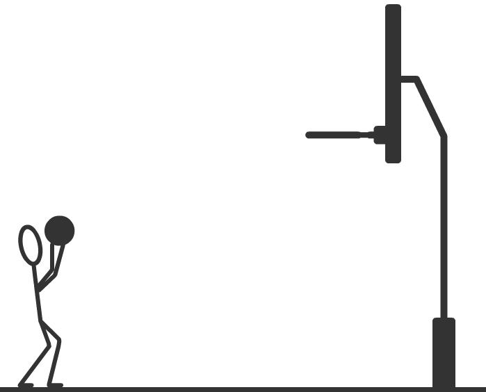 Sketsa Animasi Pemain Basket