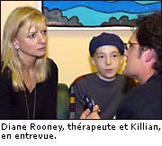 Killian with Diane Rooney, an acupuncturist from the Integrative Therapies Prog.