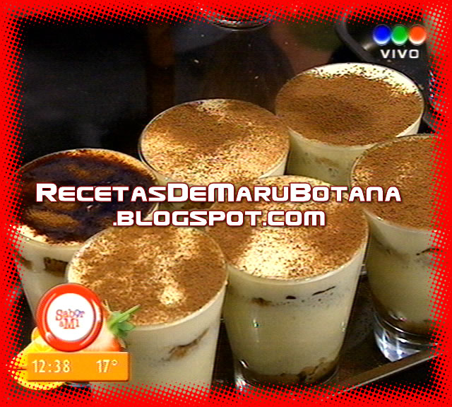 Receta Tiramisu Light By Maru Botana