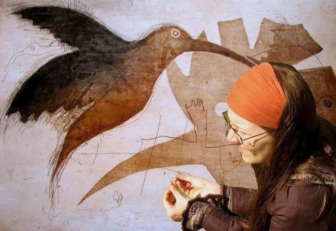 Grafika-akwaforta z akwatintą (praca z dziećmi)
