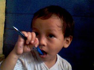 Anak ketiga saya, Ahmad Zein (TTL: Mtp, Jum'at, 7 Januari 2005, 26 Dzulqaidah 1425)