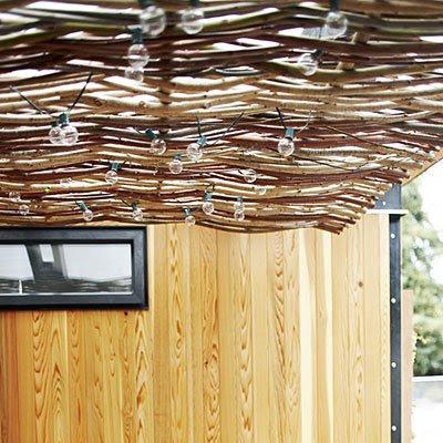 modern prefab cottage awning
