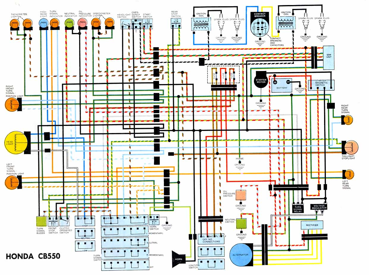 Honda Cb550 Wiring Diagram Motorcycle