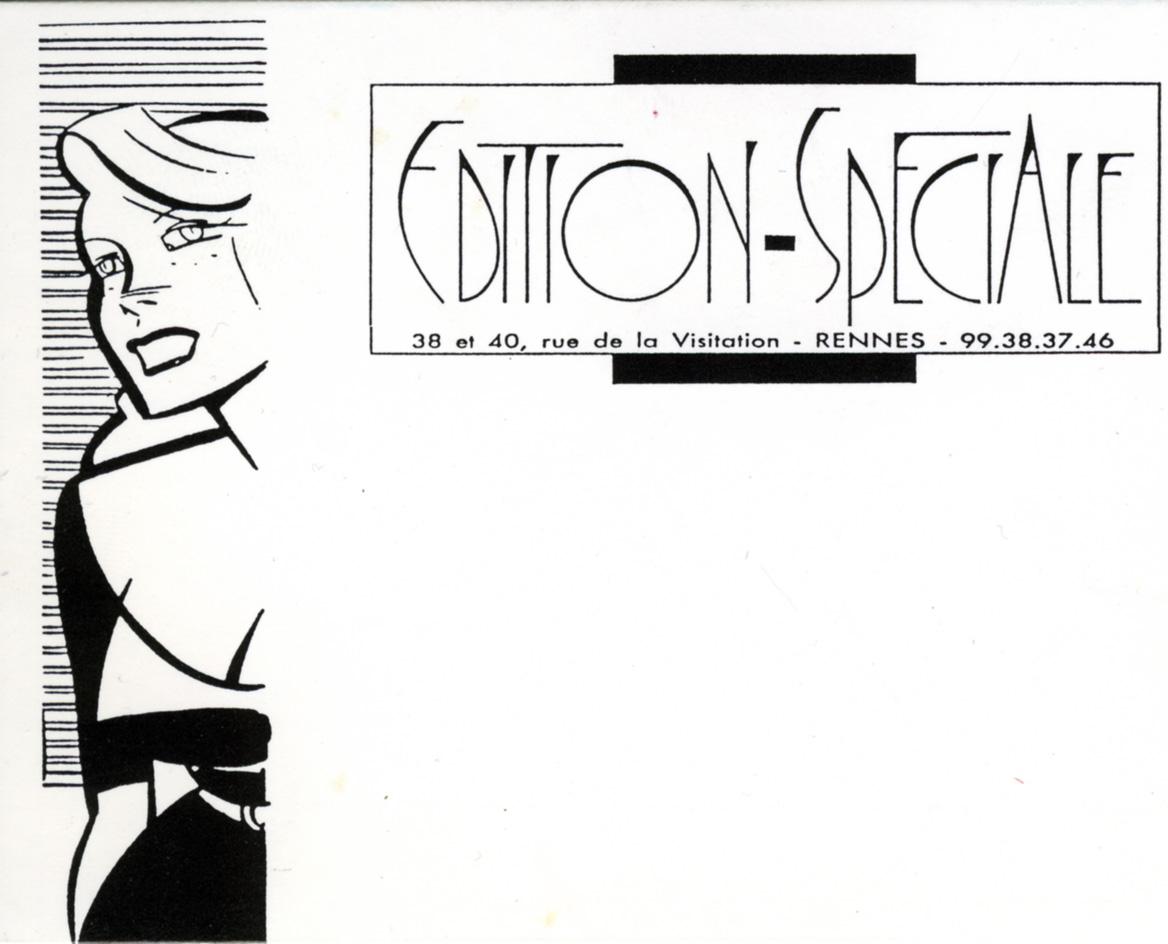 Que La Galerie Edition Speciale A Rennes Choisit Dans Les Annees 1980 Pour Illustrer Sa Carte De Visite Une Charmante Pin Up Dont Serge Clerc Maitrise