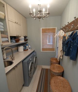 Practical Living Laundry Room Glam