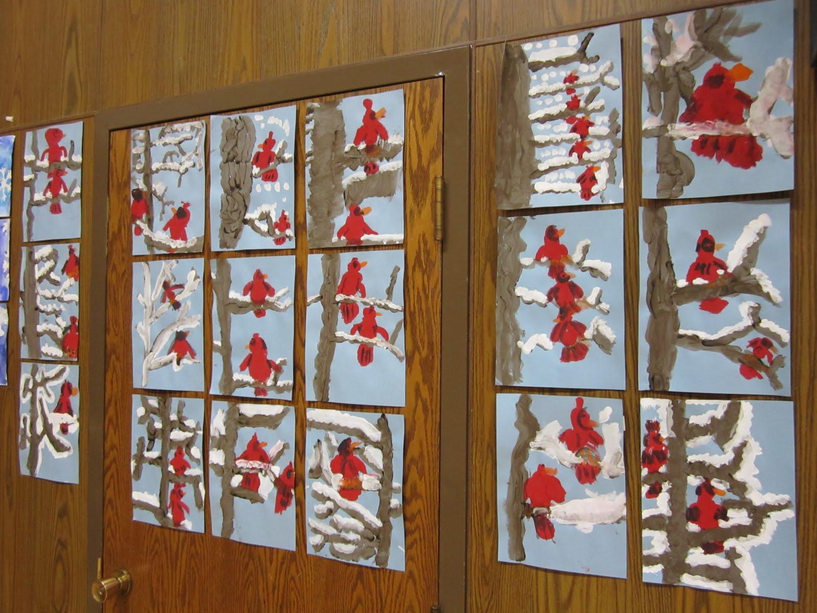 1st Grade Art Worksheets : Art at east union st grade winter