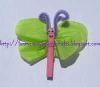 Butterfly Clothespin craft for toddlers Letter B craft