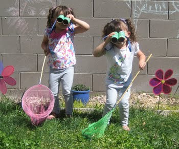 Letter B binocular kids craft bug safari