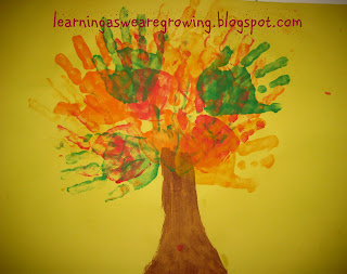 Learning As We Grow Another Fall Handprint Craft