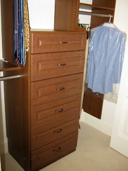 Built-in Dressers are great for him or her.