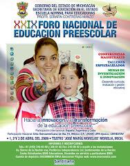 Participación en el foro de educación preescolar