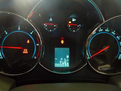 Chevrolet Cruze instrument panel