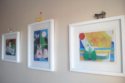 Quadros com pinturas de gatinhos