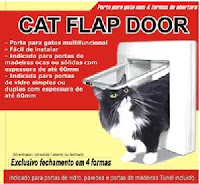 Anúncio do Cat Flap Door, a portinhola para gatos