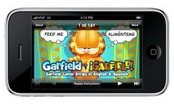 Uclick and Paws Inc. created the Garfield y Garfield app as a learning tool, offering users hundreds of simple and practical examples of applied language.