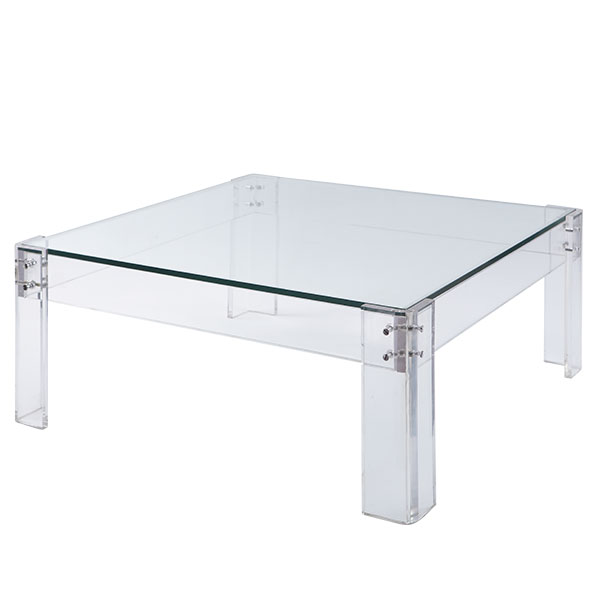 Rg the shop library acrylic table coffee table Acrylic clear coffee table