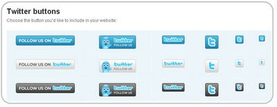 Twitter Buttons for Blog