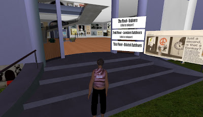 Banksy's Ghetto in Second Life - outside