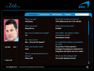 Nick Burcher Zed List