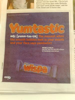 Wispa Metro Yumtastic Facebook ad