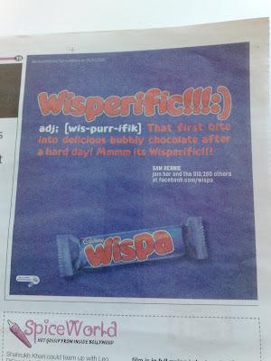 Wispa Metro Wisperific Facebook ad