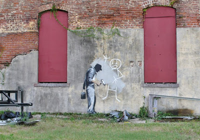 Banksy New Orleans Gray Ghost revenge