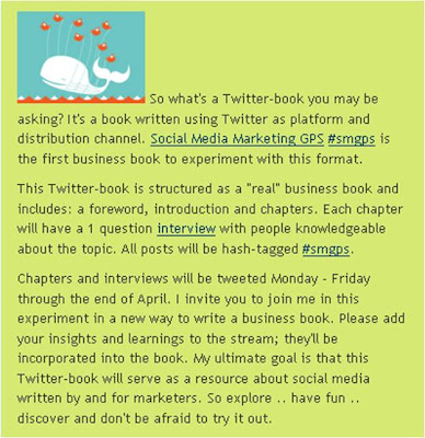 Tweet-book explanation