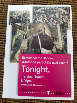 T-Mobile Trafalgar Square Flash Mob Karaoke flyer