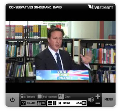David Cameron Open University live stream