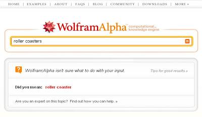 Wolfram Alpha roller coasters