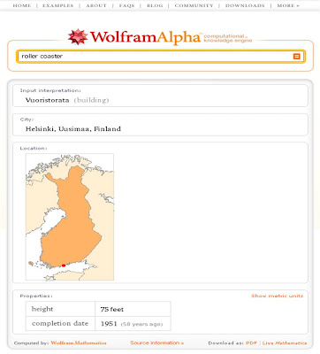 Wolfram Alpha Roller Coaster
