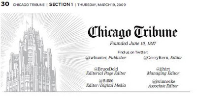 Chicago Tribune Twitter masthead