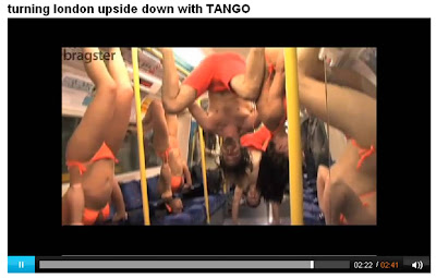 Bragster Tango upside down tube train