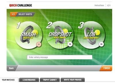 EA Grand Slam tennis Facebook App
