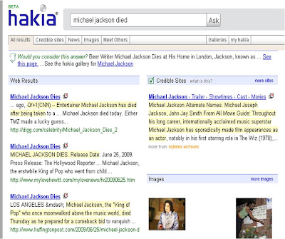 Hakia Michael Jackson Died results