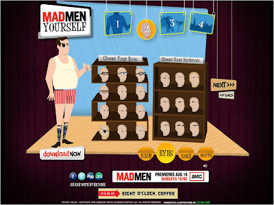 Mad Men Yourself body part selection