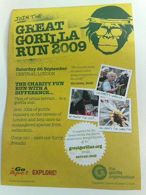 Great Gorilla Fun Run 2009 London details