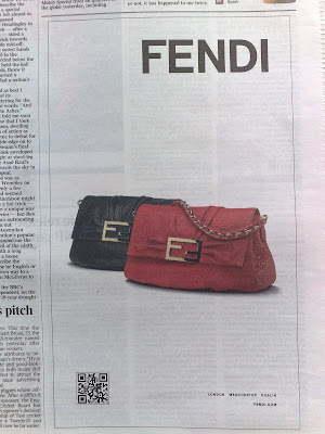 Fendi QR code newspaper ad