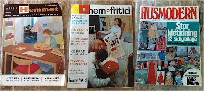 Swedish magazine old front covers