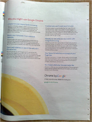Google Chrome newspaper ad page 3