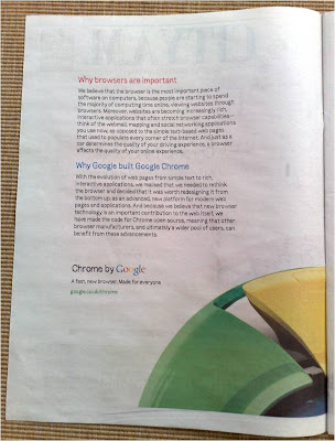 Google Chrome City AM newspaper ad page 2