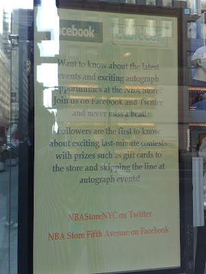 NBA Store Fifth Avenue New York City shop window sticker