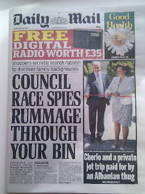 Daily Mail rubbish bin rifling ad targeting