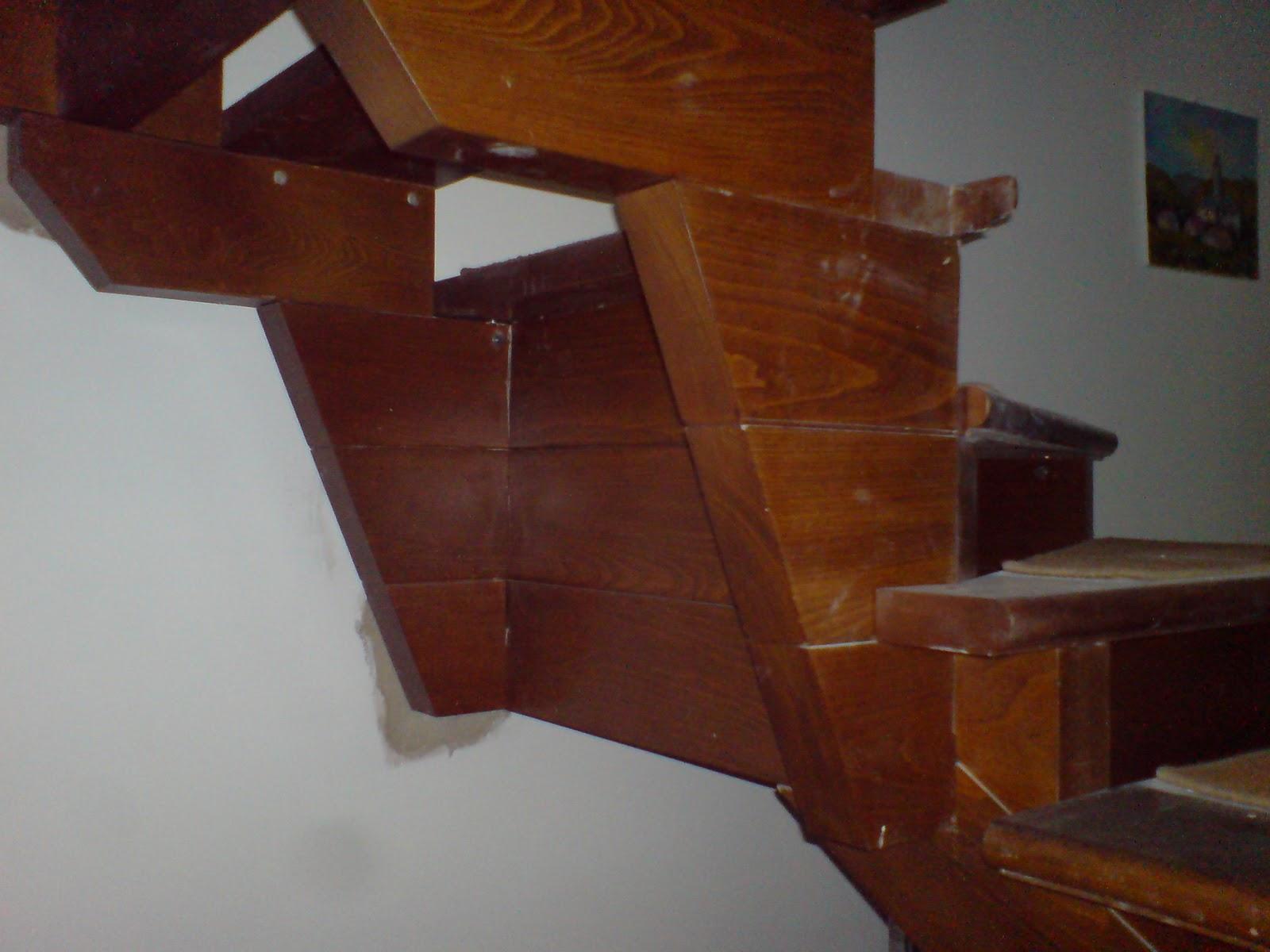 Ilvecchioartigiano scala in faggio con doppio ventaglio - Porta a ventaglio ...